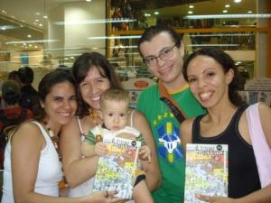 Marguinha, Michele, o bebê de Michele (quando ainda era bebê), Wilder e Gabi.