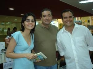 Carla Cristina, Professor Rosemberg e Professor Henrique Lucena