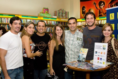 Gustavo, Ederval, Candice, Japa e Sarah.