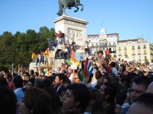 Gente nos monumentos