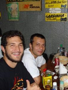 Fialho e Adílson na Pérola